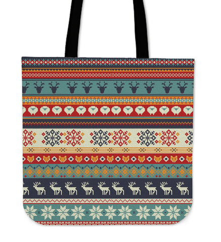 Christmas Knit Reindeer - Tote Bag - Bags - Epic Goodies Shop