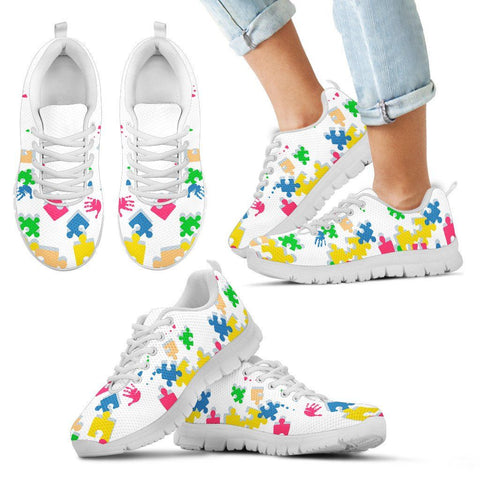 Jigsaw Puzzle White Kid Sneakers