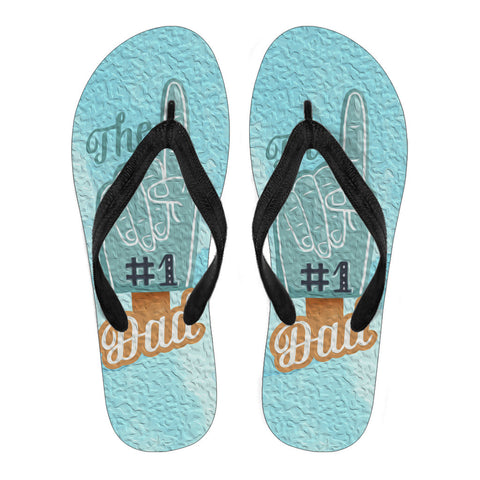 Number 1 Dad - Flip Flops - Flip-Flops - Epic Goodies Shop