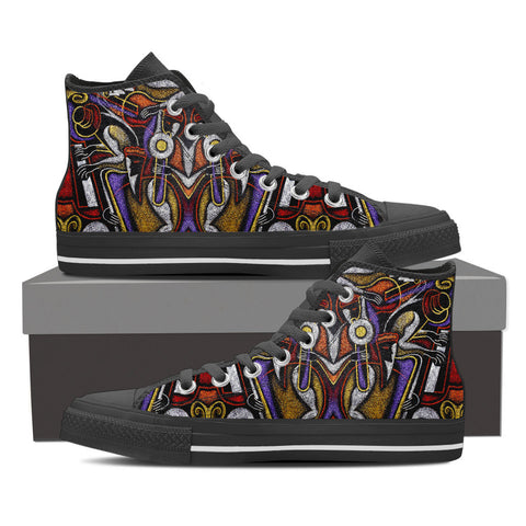 Music Abstract Melodies - High Top Shoes - Shoes - Epic Goodies Shop