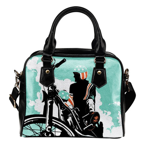 American Biker - Leather Hand Bag - Bags - Epic Goodies Shop