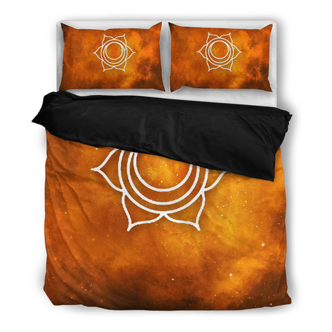 Starry Chakra Orange - Bedding Set - Bedding Set - Epic Goodies Shop