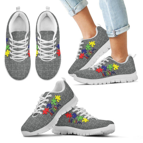 Autism Colors and Gray - Kid's Sneaker - Shoes - Epic Goodies Shop