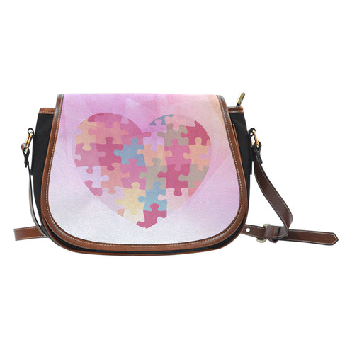 Heart Jigsaw - Saddle Bag