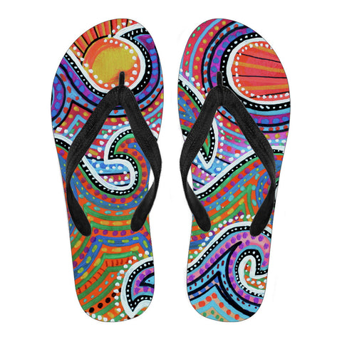 Mandala Waves Flip Flops