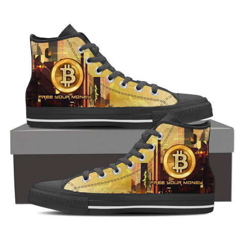 Bitcoin Free Your Money - Men's High Top - Shoes - Epic Goodies Shop