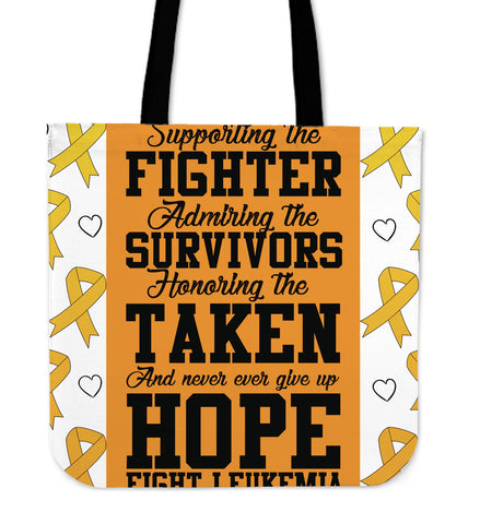 Fighter Leukemia - Tote Bags - Bags - Epic Goodies Shop