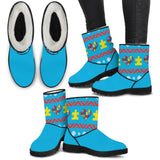 Autism Knit Puzzle - Faux Fur Boots - Boots - Epic Goodies Shop