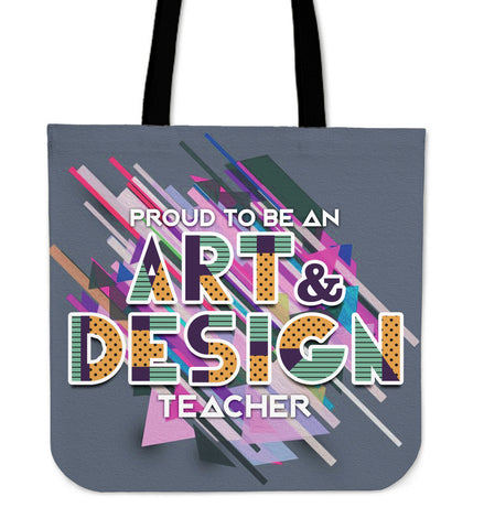 Proud Art n Design Tote Bag - Teachers - Bags - Epic Goodies Shop
