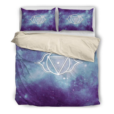Starry Chakra Indigo - Bedding Set Biege - Bedding Set - Epic Goodies Shop