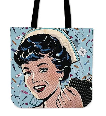 Nurse Retro Comic - Tote Bag - Bags - Epic Goodies Shop