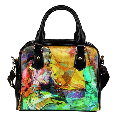 Music Abstract Woman - Leather Hand Bag - Bags - Epic Goodies Shop