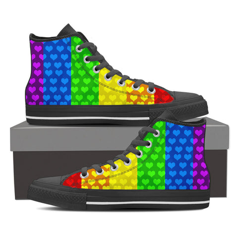 Rainbow Hearts - High Tops