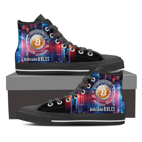 Bitcoin Rules - Men's High Top - Shoes - Epic Goodies Shop