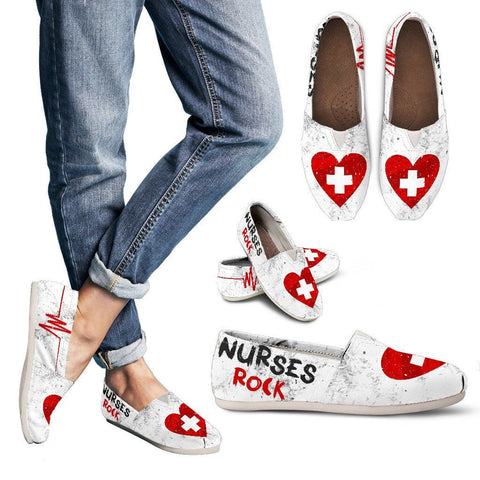 Nurses Rock - Womens Casual Shoe