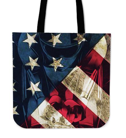 Bike USA Cloth Tote - Patriotic - Bags - Epic Goodies Shop