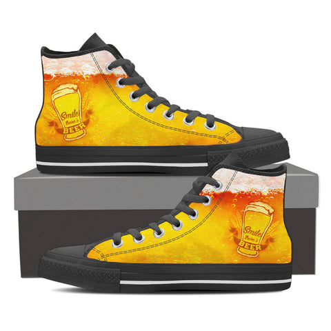 Smile There's Beer - Mens Hightops -  - Epic Goodies Shop