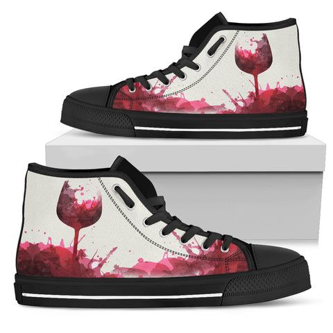 Wine Glass Serene - Women's High Tops