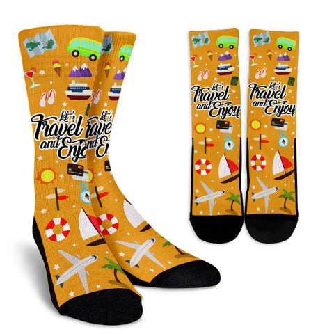 Travel And Enjoy - socks - Epic Goodies Shop