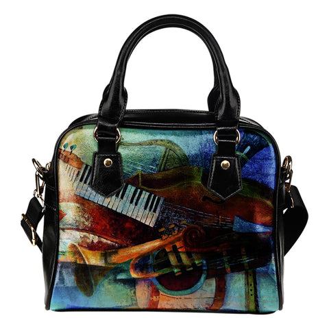 Music Piano Tiles - Leather Hand Bag - Bags - Epic Goodies Shop
