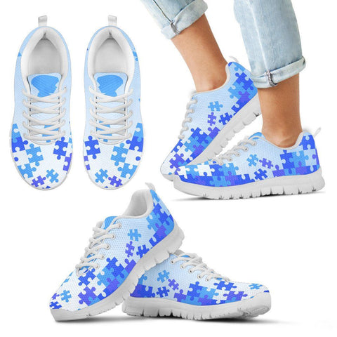 Jigsaw Puzzle Blue Kid Sneakers