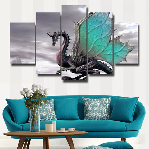 Dragon Painting Gray Theme - wall art - Epic Goodies Shop