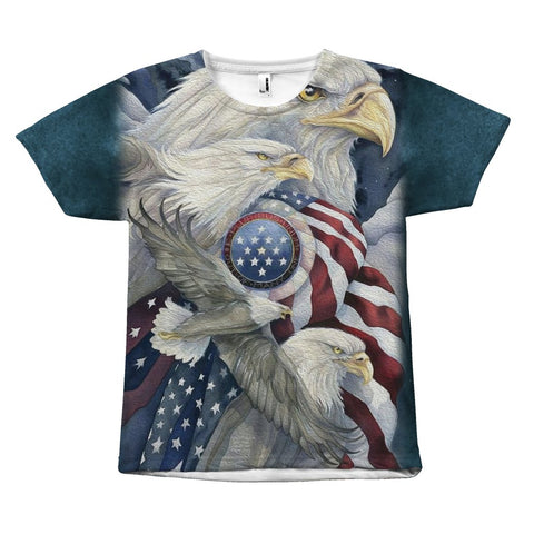 Patriot Fly The Flag - Tee - All Over Print - Epic Goodies Shop