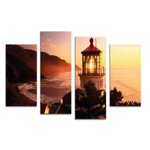 Lighthouse Painting Canvas Wall Art