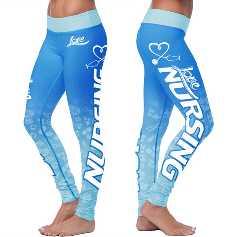 Love Nursing Blue Leggings - Leggings - Epic Goodies Shop