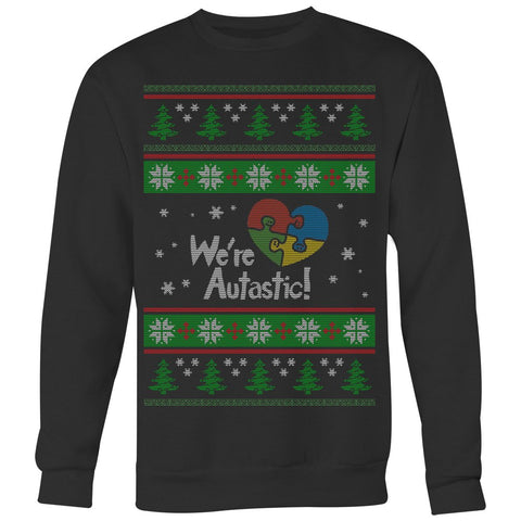 Autism Heart Puzzle - Ugly Sweater - Sweat Shirt - Epic Goodies Shop