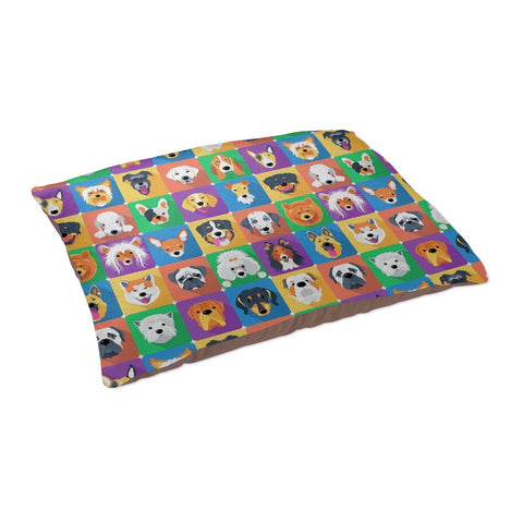 Dogs In Squares - Pet Bed - Pet Bed - Epic Goodies Shop