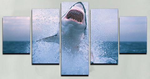 Shark! Canvas Painting - Wall Art - Epic Goodies Shop