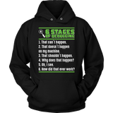 6 Stages - Debugging - T-shirt - Epic Goodies Shop
