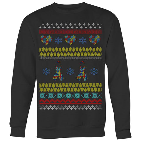 Autism Ribbon Of Hope - Ugly Sweater - T-shirt - Epic Goodies Shop