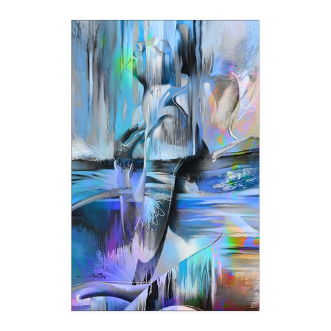 Closed-eyed Woman - Abstract Poster - Posters - Epic Goodies Shop