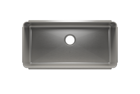 "Classic 34.5"" x 17.5"" x 10"" Undermount Stainless Steel Kitchen Sink"