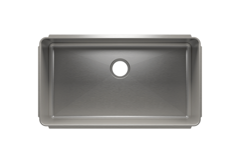 "Classic 34.5"" x 19.5"" x 10"" Undermount Stainless Steel Kitchen Sink"
