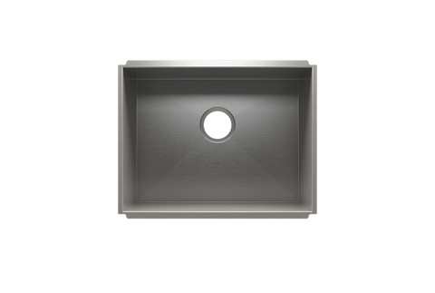 "UrbanEdge 22.5"" x 17.5"" x 12"" Undermount Stainless Steel Utility Sink"
