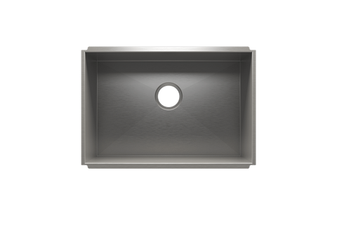 "UrbanEdge 25.5"" x 17.5"" x 12"" Undermount Stainless Steel Utility Sink"