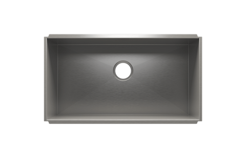 "UrbanEdge 31.5"" x 17.5"" x 12"" Undermount Stainless Steel Utility Sink"