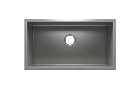 "J7 31.5"" x 17.5"" x 12"" Undermount Stainless Steel Utility Sink"