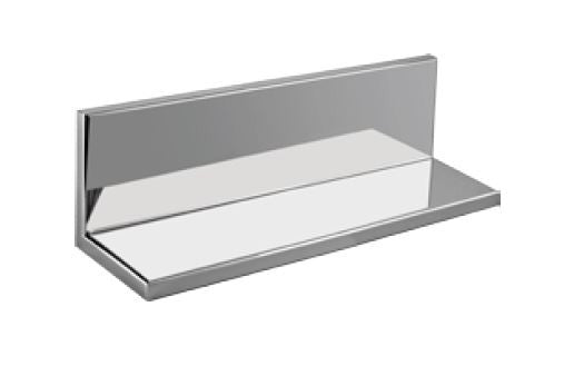 "Stainless Shower Shelf With Back : 12"" Wide  4"" Deep  4"" Tall"