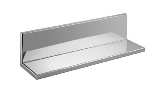 "Stainless Shower Shelf With Back : 18"" Wide  4"" Deep  4"" Tall"