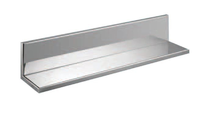 "Stainless Shower Shelf With Back : 24"" Wide  4"" Deep  4"" Tall"