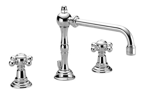Madison Three Hole Lav Faucet Extended Reach