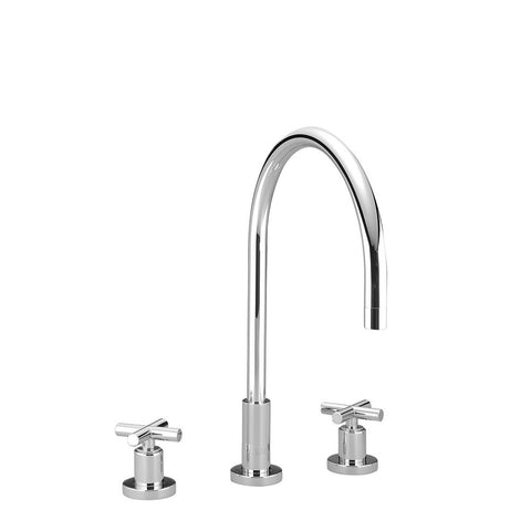"Tara. Three Hole Kitchen Faucet 9"" Reach"