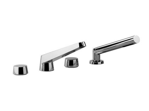 Selv Tub Filler with Handshower - 4 Hole