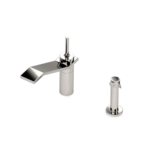 Formwork One Hole High Profile Kitchen Faucet, Metal Joystick Handle and Spray