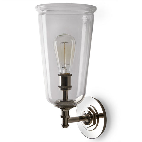 Henry Wall Mounted Single Arm Sconce with Glass Shade