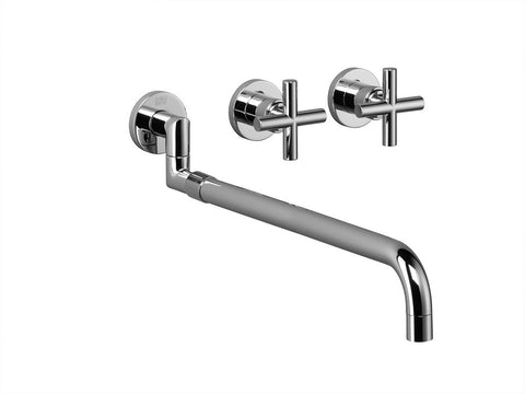 Tara. 3 Hole Wall Mount Pull Out Kitchen Faucet Trim Only
